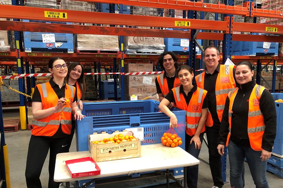 Orix Community doing fruit shopping